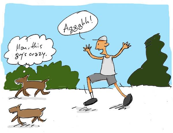 man-chasing-wild-dogs