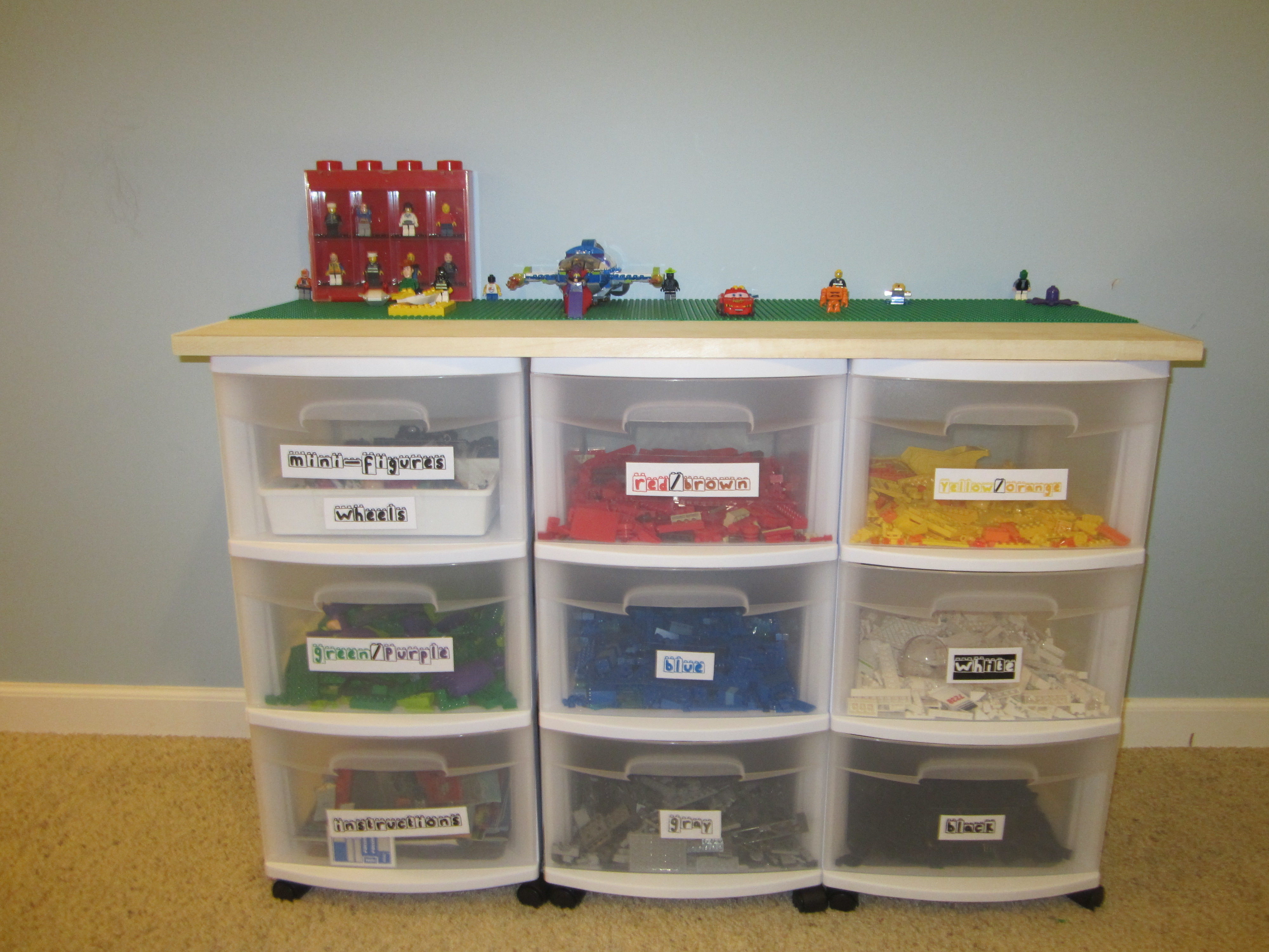 How To Make A Lego Table With Storage Containers