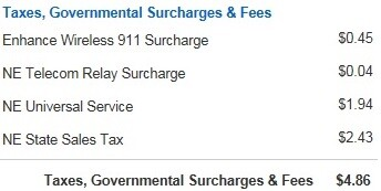 Verizon Charges