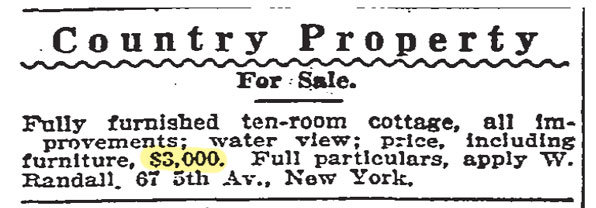 We've seen a little rise in property values since then