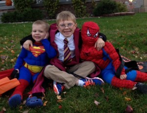Superman, Spiderman, and Harry Potter
