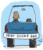 debt sucks gas