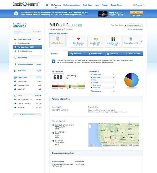 credit karma free credit reports