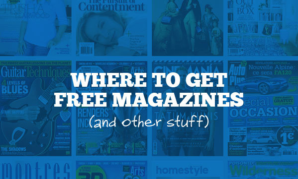 where to get free magazines