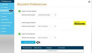 2) Click on preferences and blacklist