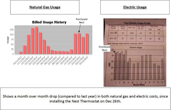 Nest energy savings
