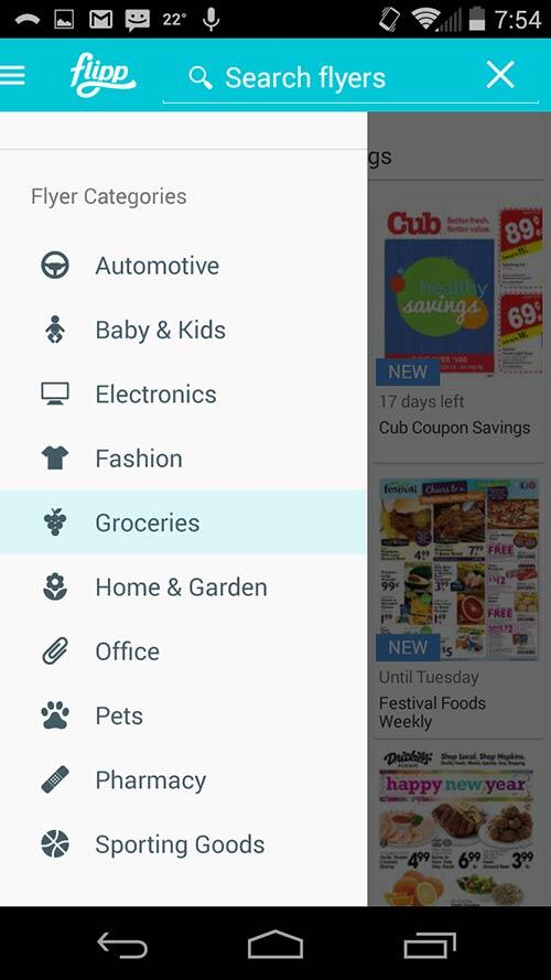 Search by category, store or item