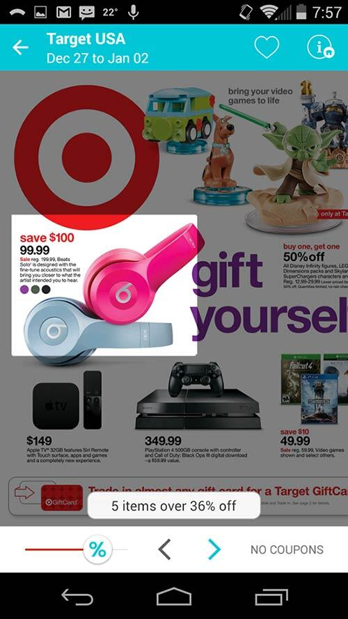 Items with the greatest savings at Target