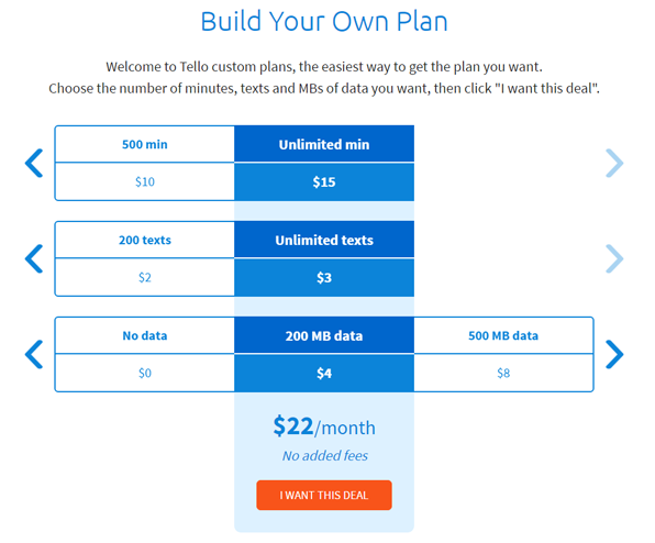 build your own cell phone plan