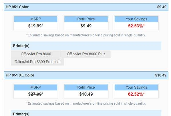 Costco printer refill is pretty cheap