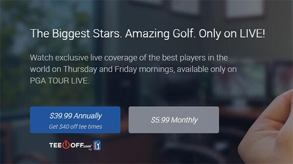 PGA Tour live plans