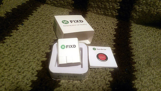 FIXD packaging