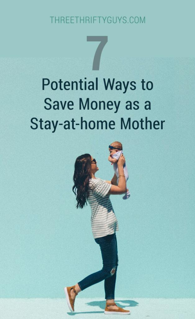 ways to save as stay at home mom