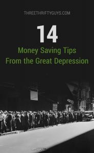 money saving tips from Great Depression