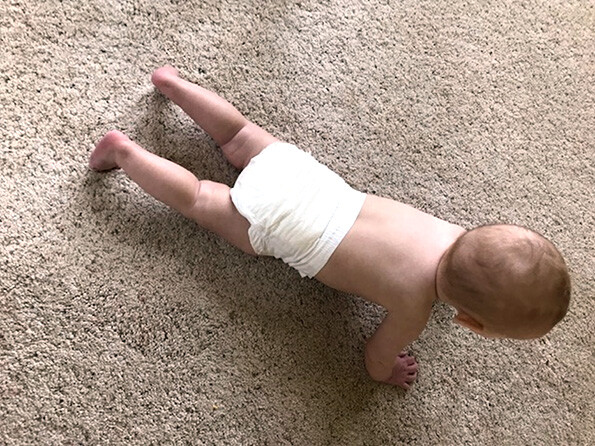 Baby in Dyper diapers