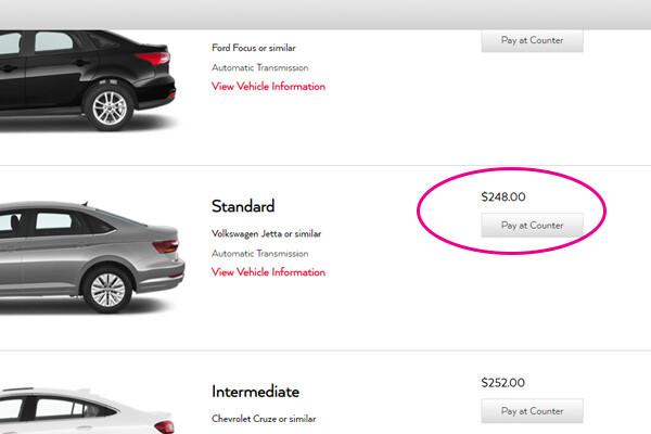 rental car drip pricing