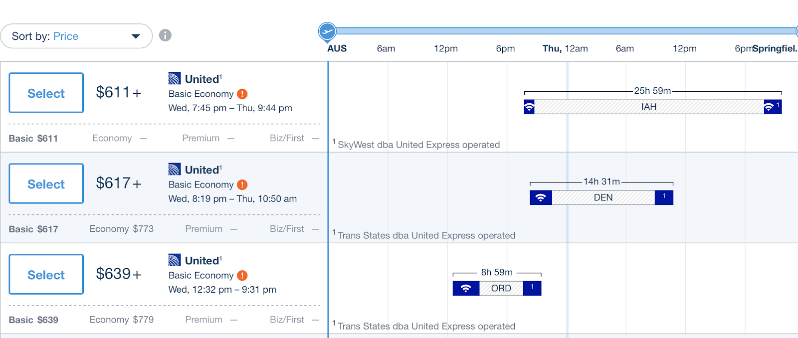 Illustrate Hipmunk functionality